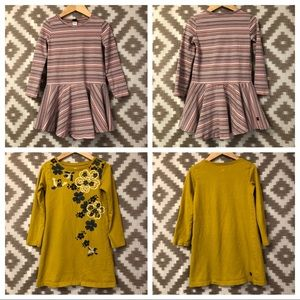Tea Collection Girl's Size 4 Long Sleeve Dress Lot
